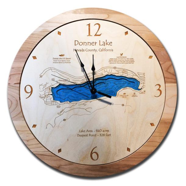 Donner Lake Wood Clock