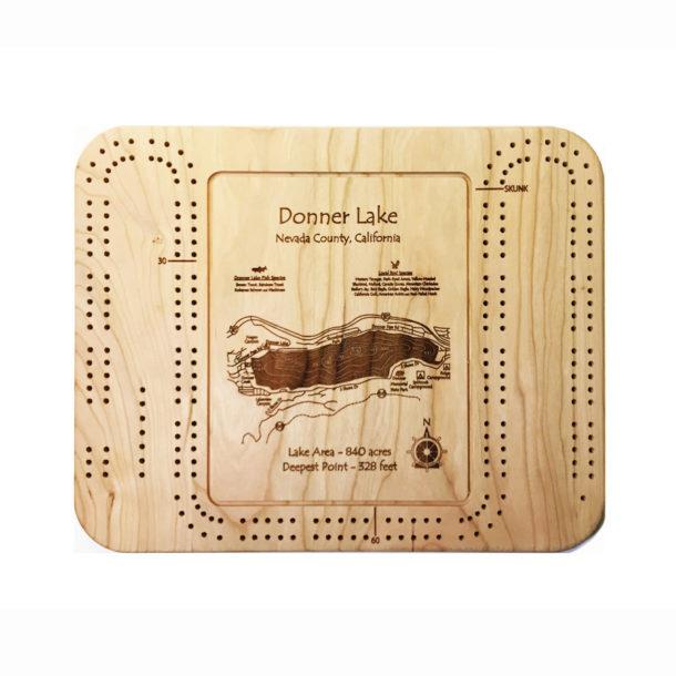 Donner Lake cribbage board