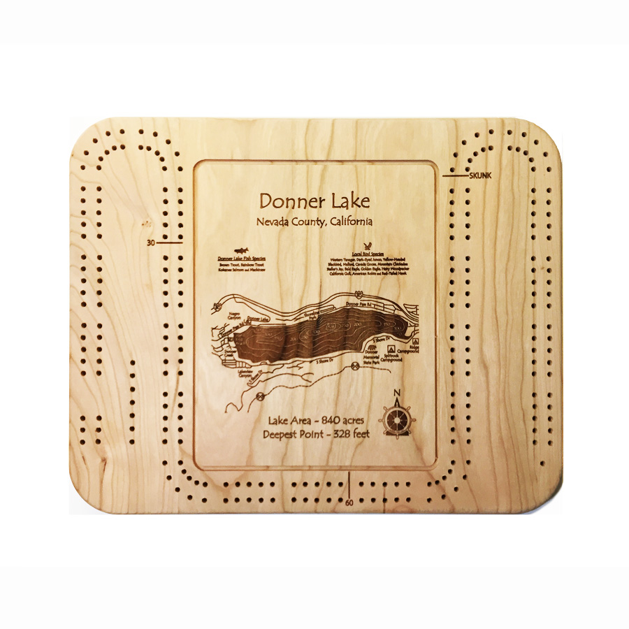 Donner Lake cribbage board