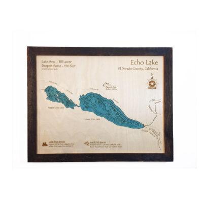 3D Wood Map of Echo Lake