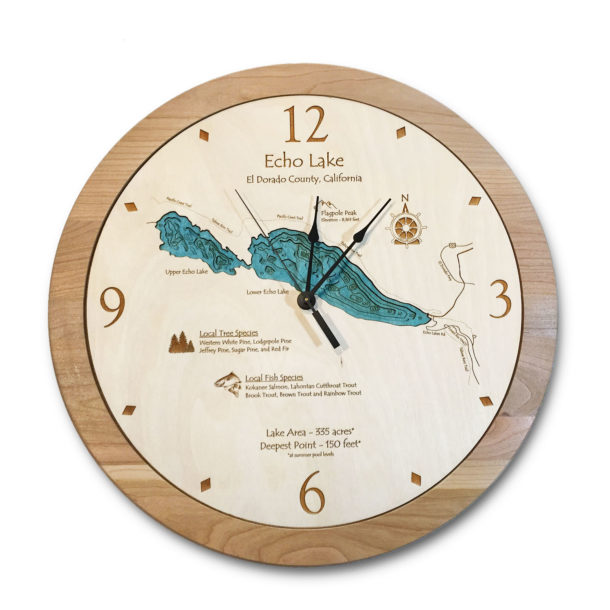 Echo Lake Wood Clock
