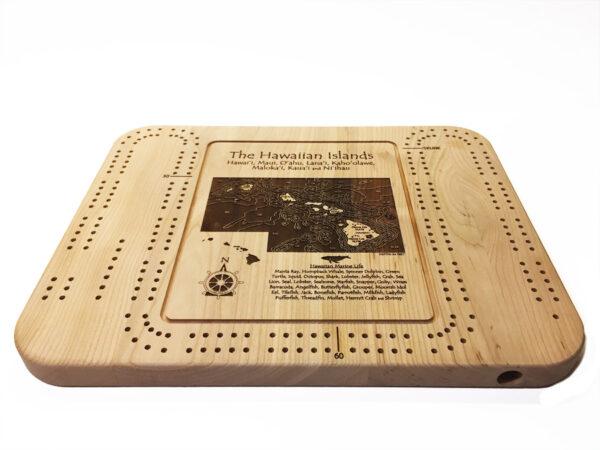 wood cribbage board of hawaii