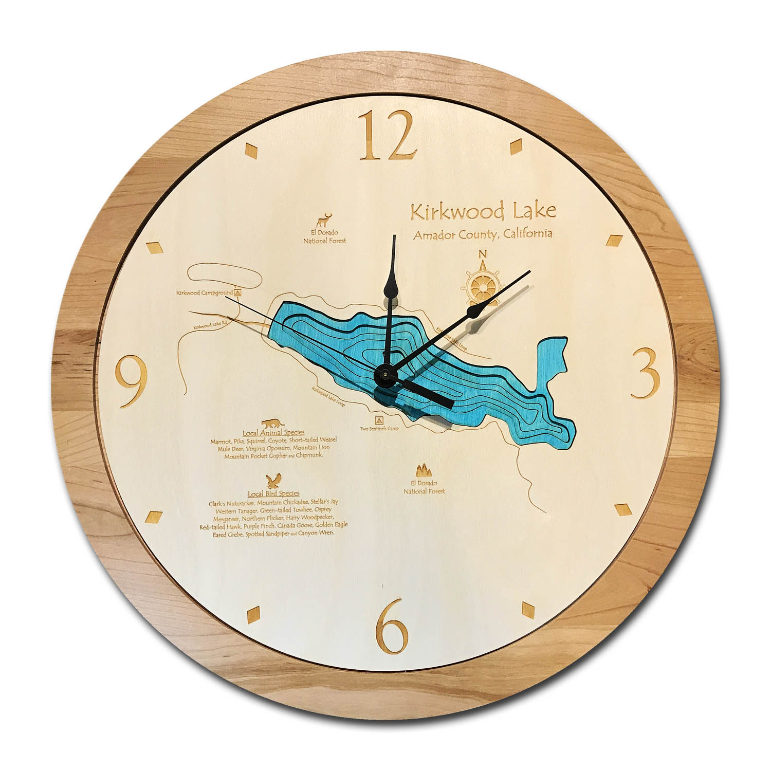 Kirkwood Lake Wood Clock
