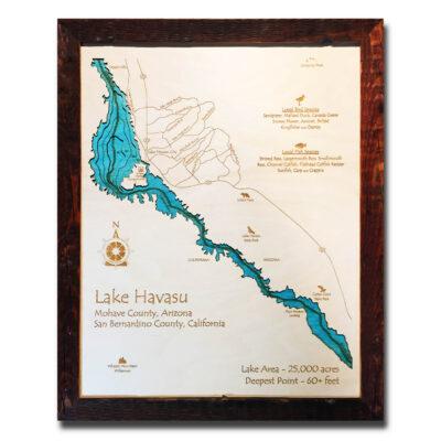 Lake Havasu Wood Map
