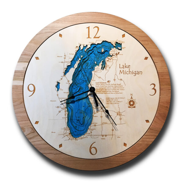 Lake Michigan Wood Clock