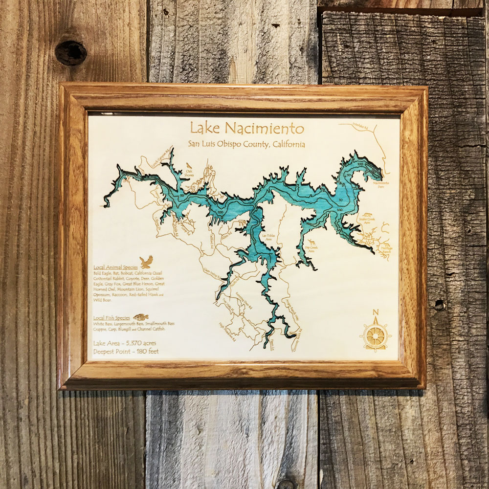Florida Keys FL SingleDepth Nautical Wood Chart  X  On - Florida keys map art