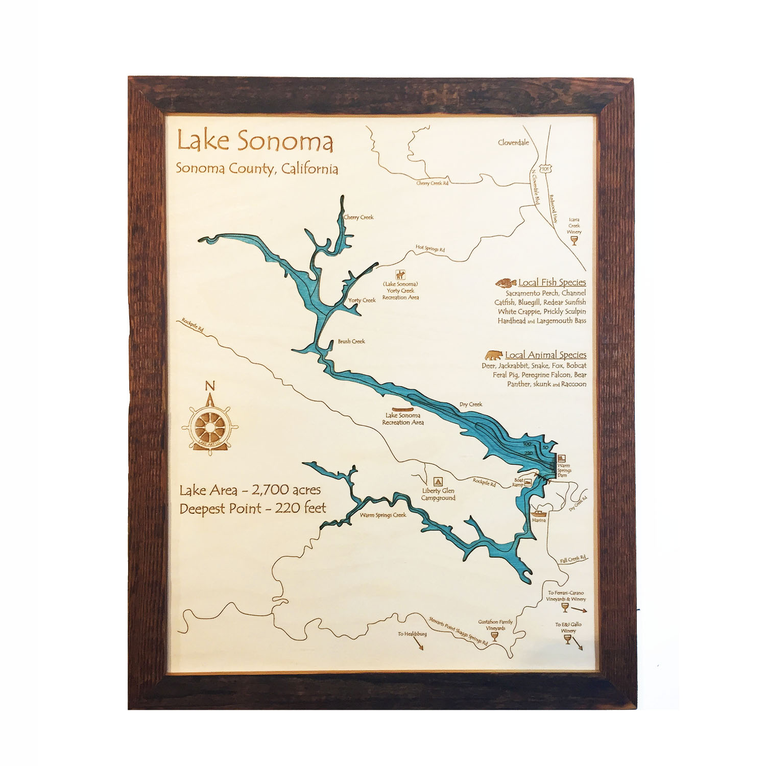 Lake Sonoma Wood Map