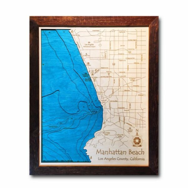 Manhattan Beach Wood Map