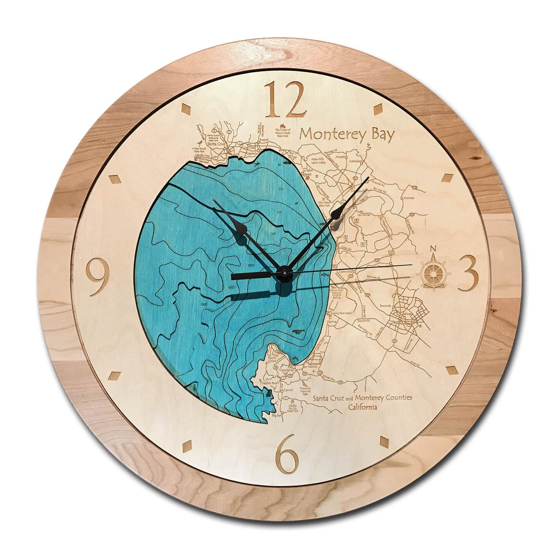 Monterey Bay Wood Clock