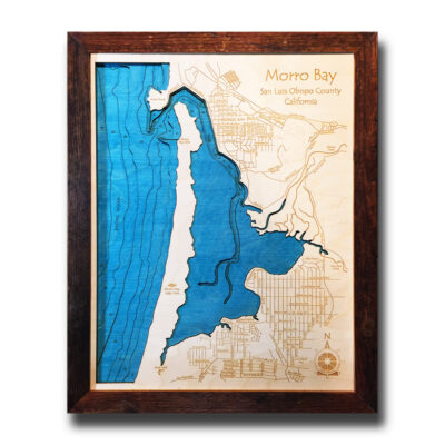 3D Wood Map of Morro Bay