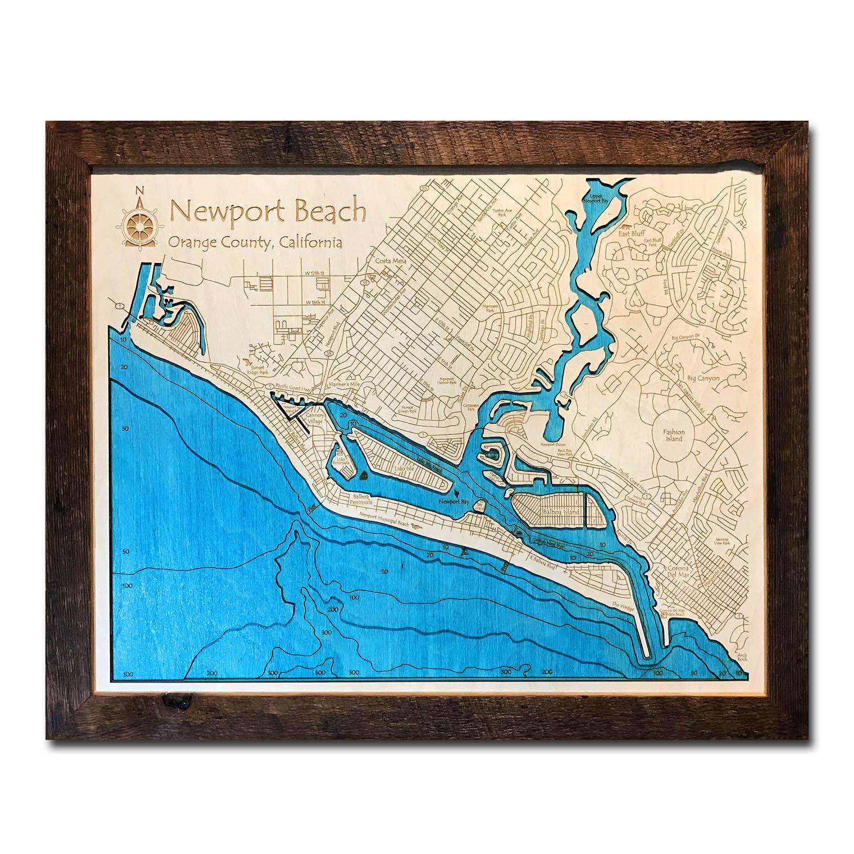 Newport Beach Wood Map