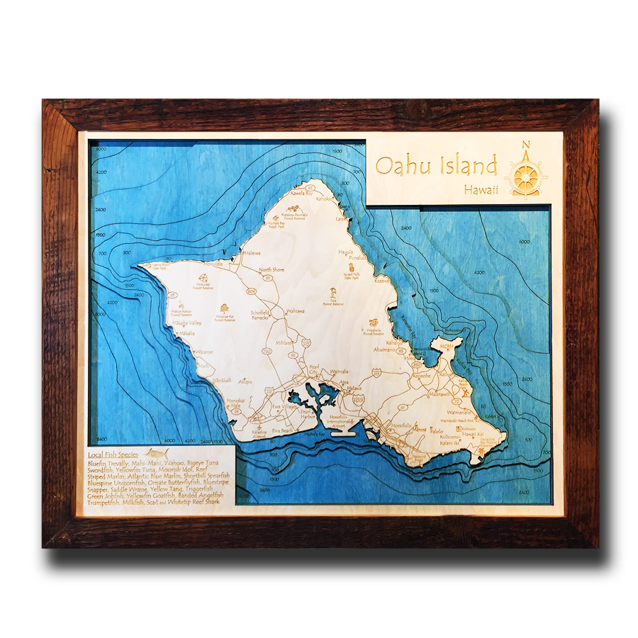 Oahu Nautical Map
