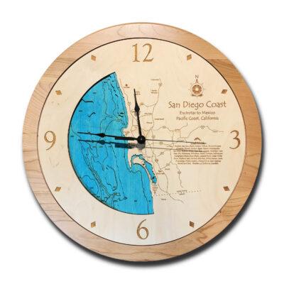 San Diego Coast Wood Clock