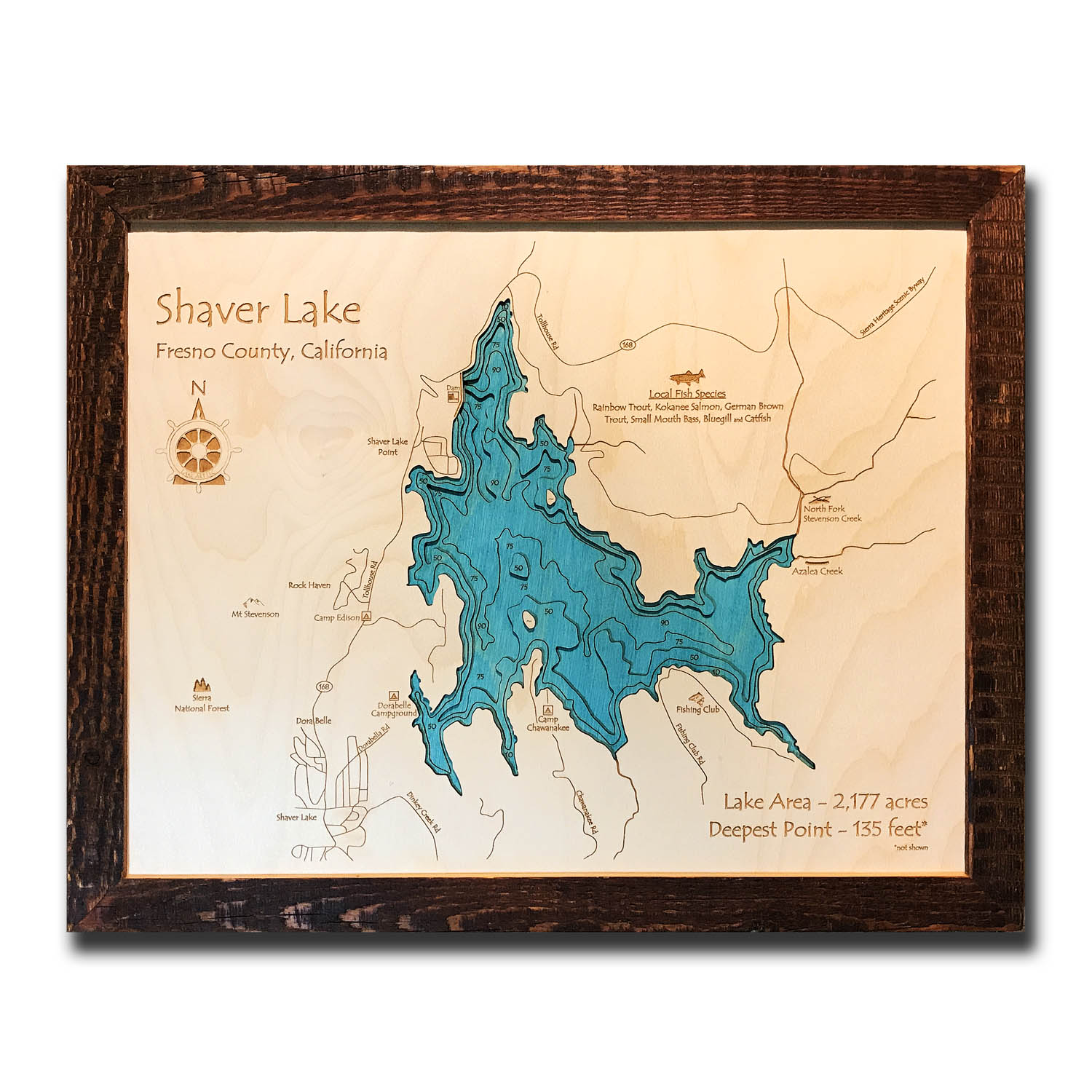 Shaver Lake Wood Map