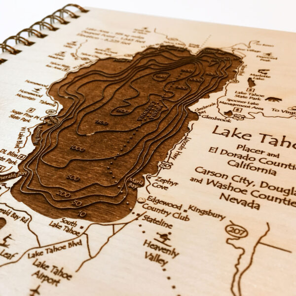 Lake Tahoe engraved journal