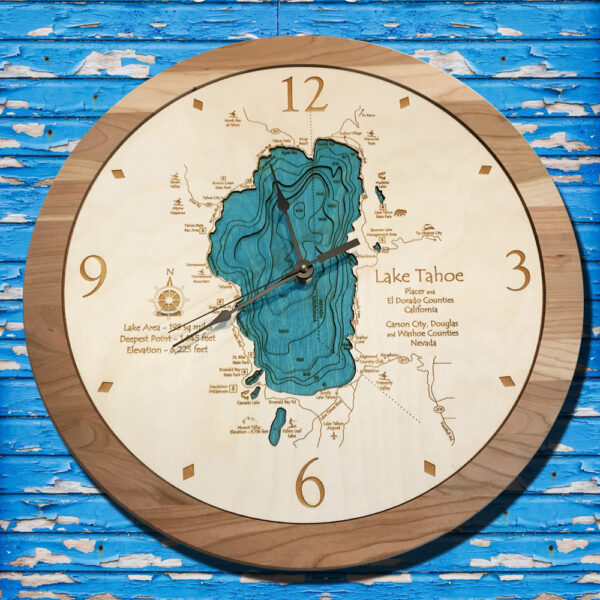 Lake Tahoe nautical clock in 3D