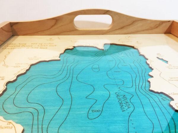 Lake Tahoe Nautical Wood Map