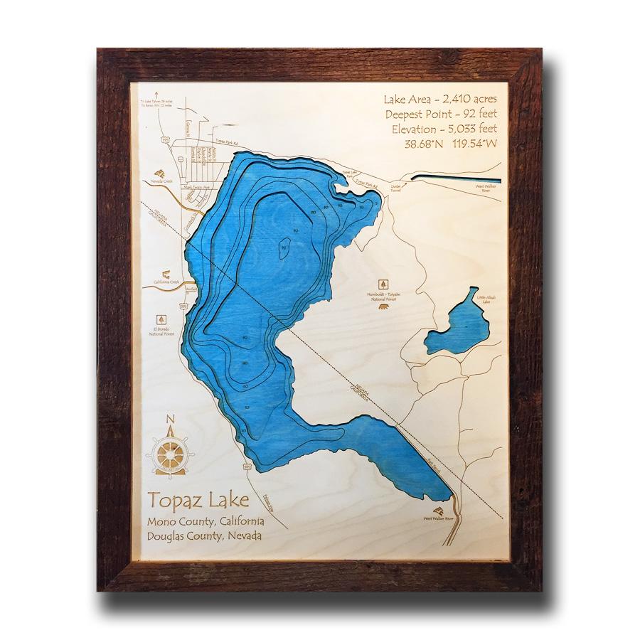 Topaz Lake Wood Map