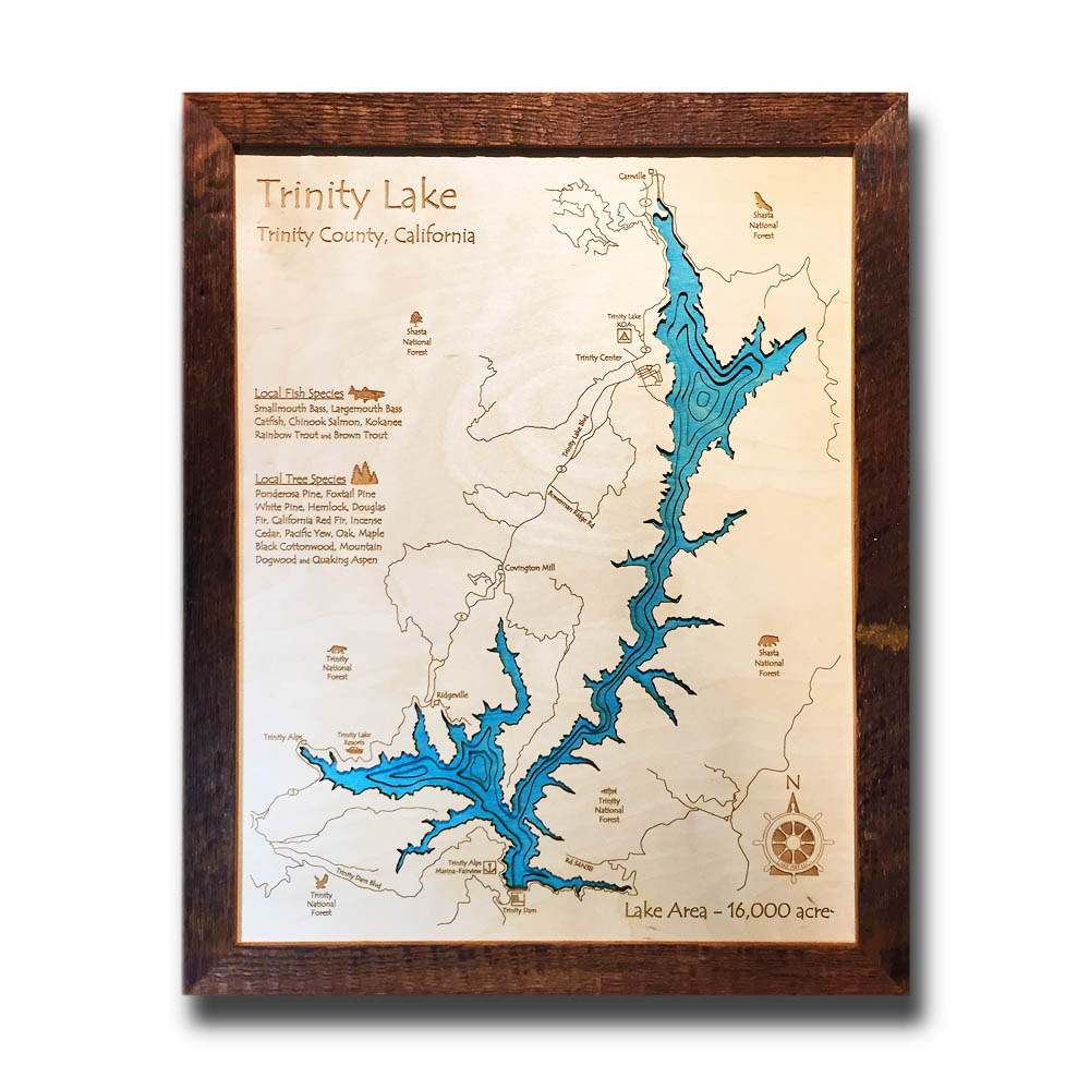 Trinity Lake Wood Map