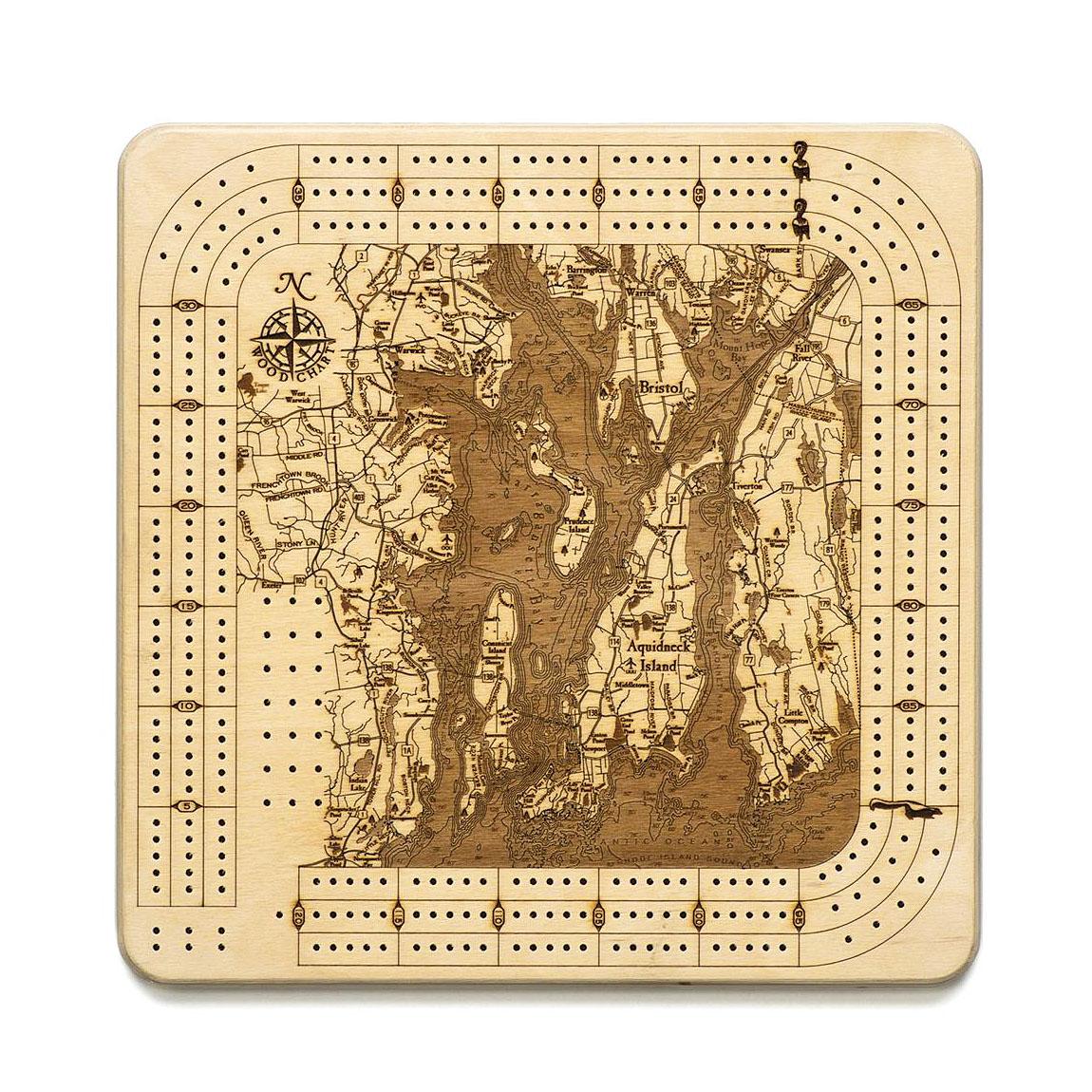 Narragansett Bay Cribbage Board