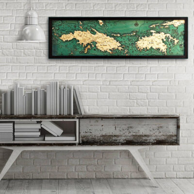 St Thomas 3d Wood Map poster