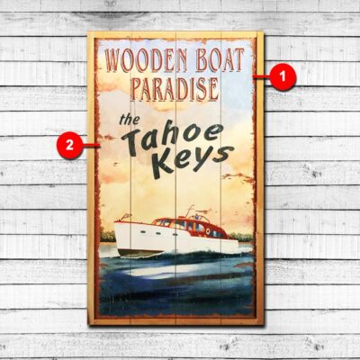 Boaters Paradise Personalized Wood Sign
