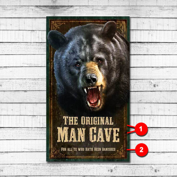 Man Cave Personalized Vintage Sign