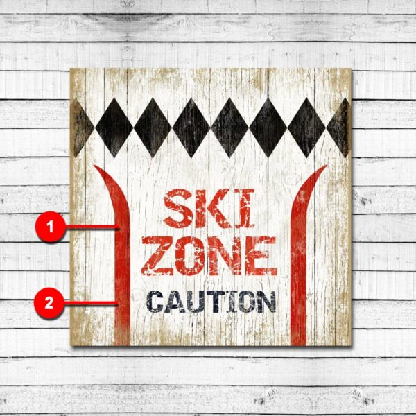 Personalized Ski Sign Custom