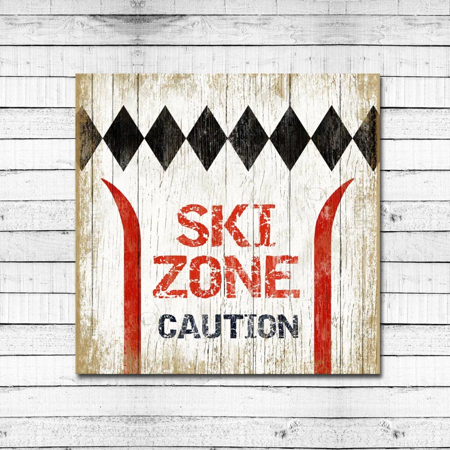 Ski Zone – Caution