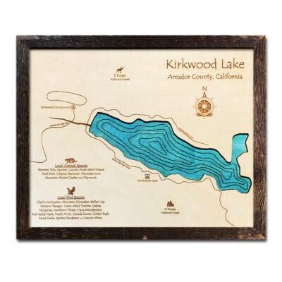 Kirkwood Lake Wood Map