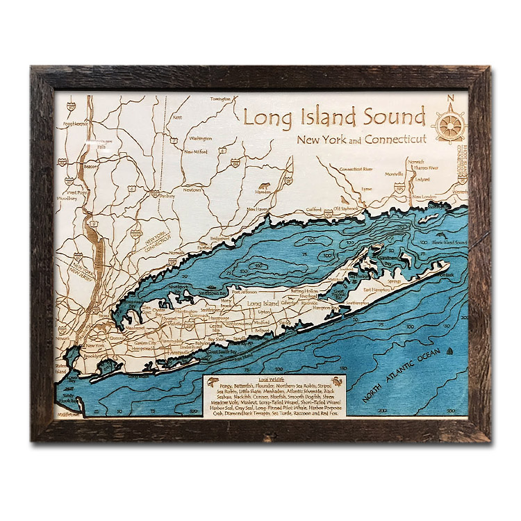 Long Island Sound Map for Sale