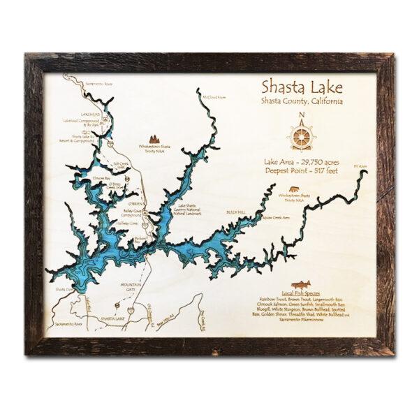 Shasta Lake Wood Map