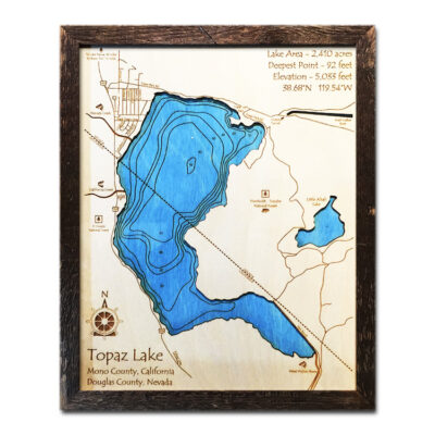 Topaz Lake Wood Map