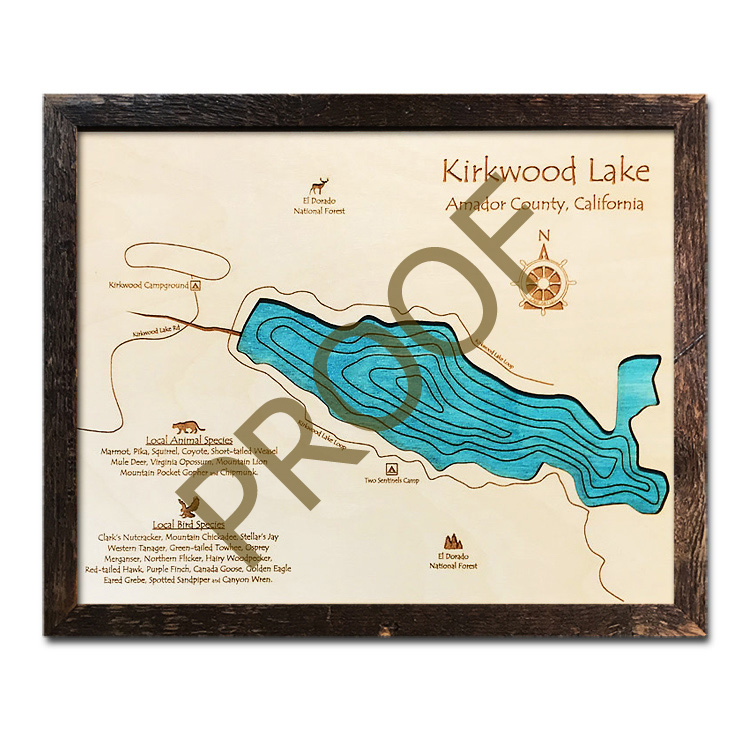Kirkwood Lake Wood Map