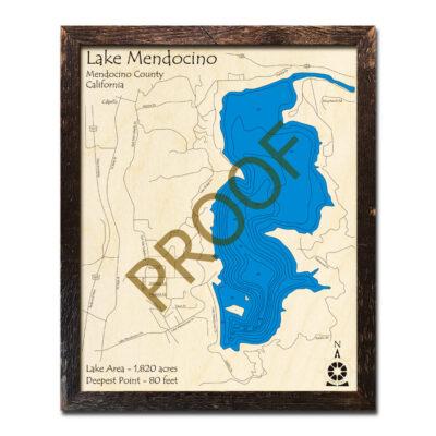 Lake Mendocino wood map