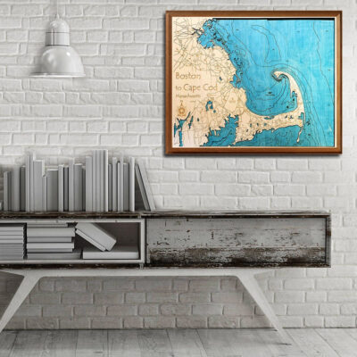 boston cape cod wooden maps 3d
