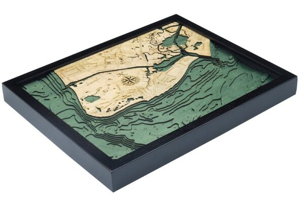 wood map of cape may nj in 3D topography