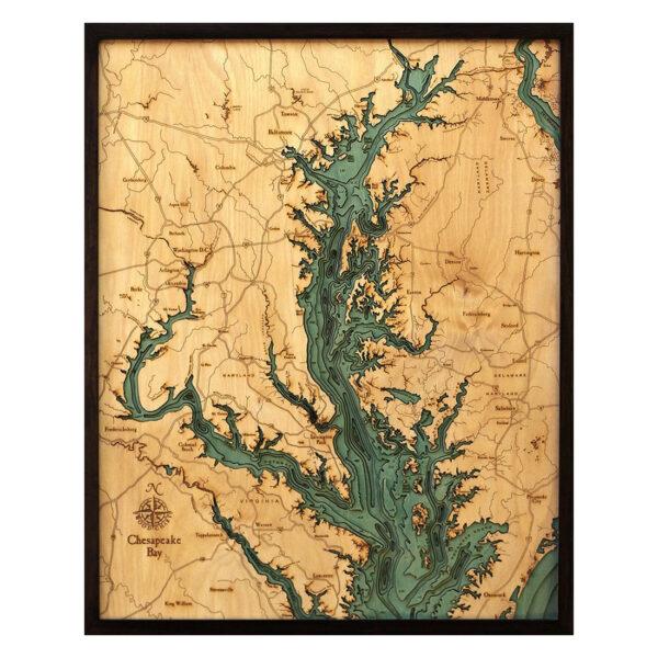 Chesapeake Bay 3D Wood Map