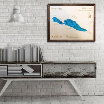 Echo Lake 3d wood map