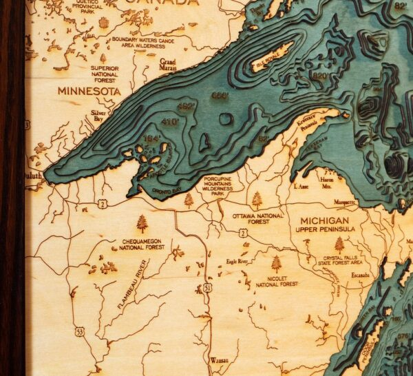 great lakes wood chart upper peninsula zoom