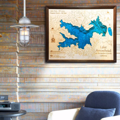 Lake Arrowhead 3d wood map