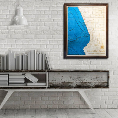 Manhattan Beach 3d wood map