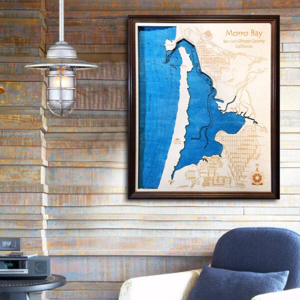 Morro Bay 3d wooden map