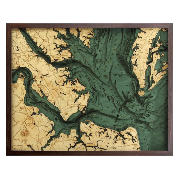 norfold wood map 3d in the chesapeake bay