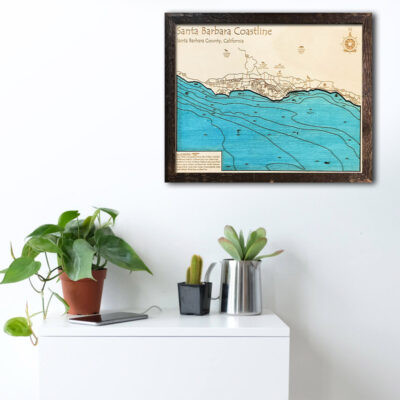 Santa Barbara wood map poster