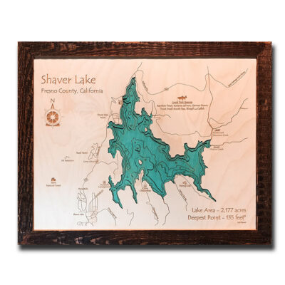 Shaver Lake 3d wood map