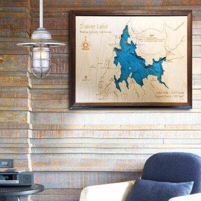 Shaver Lake 3d wood map