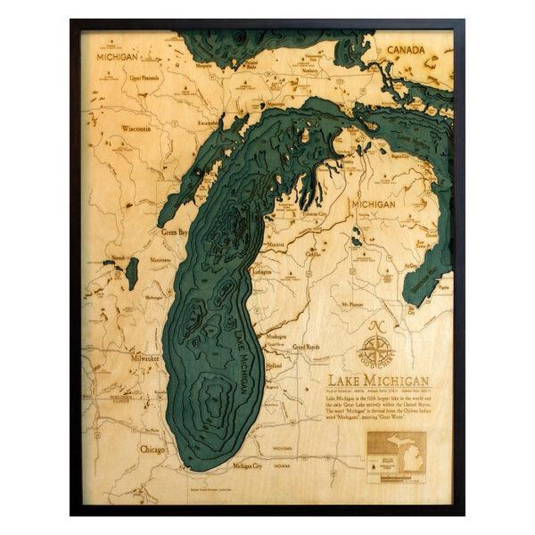 Lake Michigan Wood Map