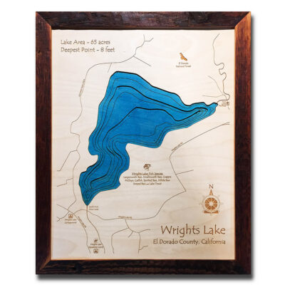 Wrights Lake3d wood map