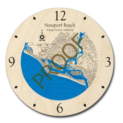 Newport Beach Wood Clock
